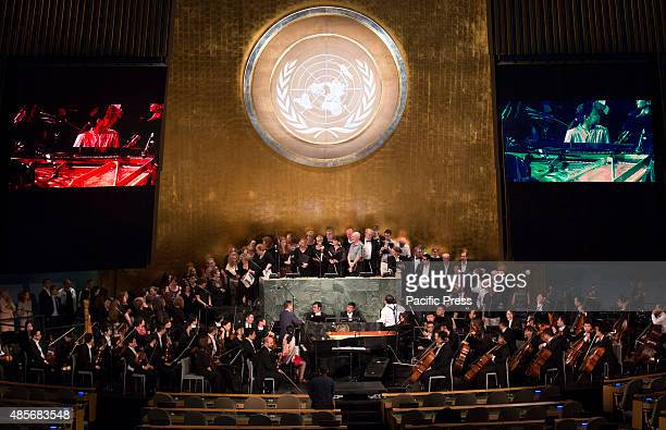 Concert featuring Pianist Serena Wang Conductor Long Yu and the Shanghai Symphony Orchestra plaid at United Nations Headquarters in New York City in...