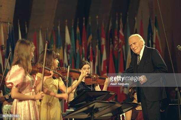 Concert for the opening ceremony conducted by Yehudi Menuhin.
