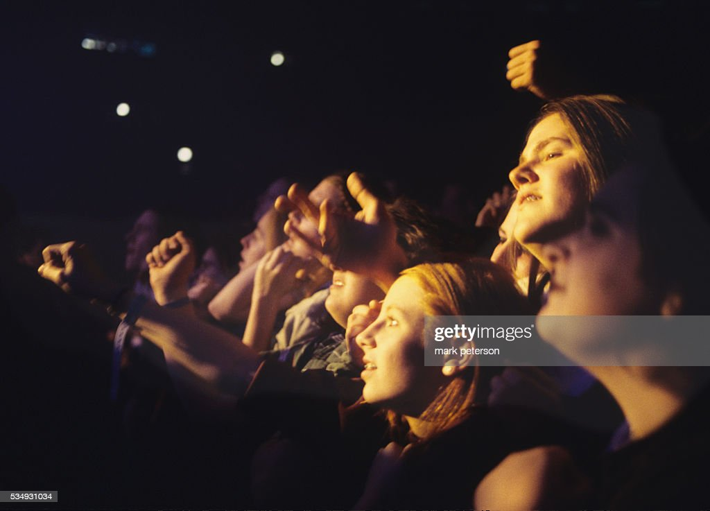 Audience at Nine Inch Nails Concert Pictures | Getty Images