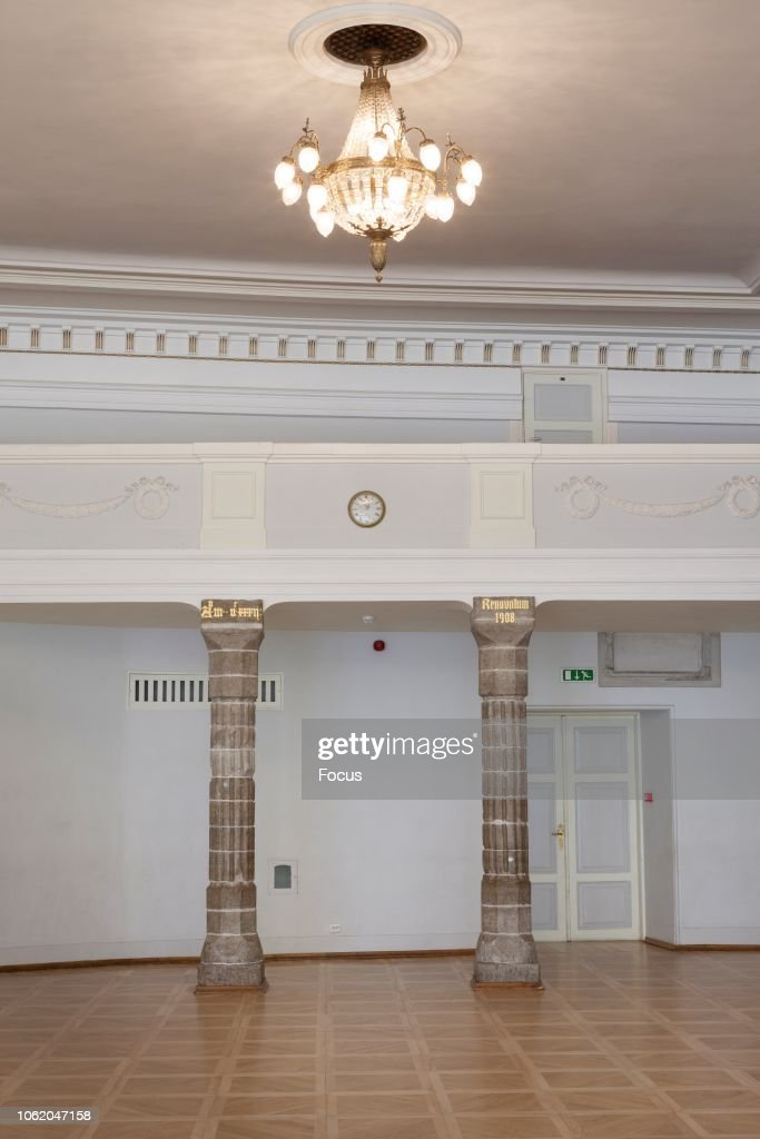 Concert hall in the House of Blackheads in Tallinn : News Photo