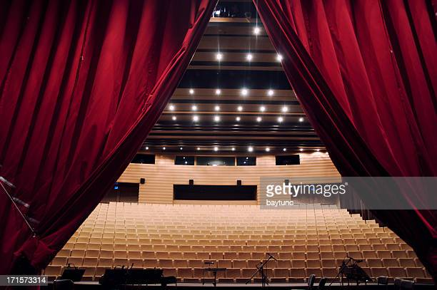 concert hall with curtain - stage performance space stock pictures, royalty-free photos & images