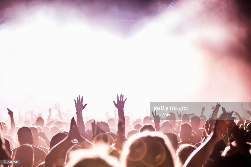 Concert Hands In Air : Stock Photo
