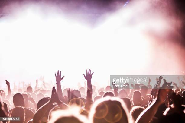 concert hands in air - concert stock pictures, royalty-free photos & images