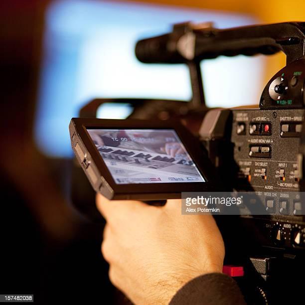 show ao vivo de vídeo do pianista - television show - fotografias e filmes do acervo