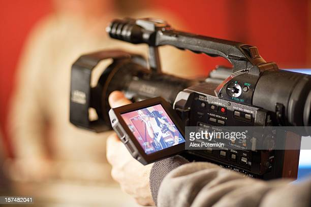 konzert-live-video der sänger - film oder fernsehvorführung stock-fotos und bilder