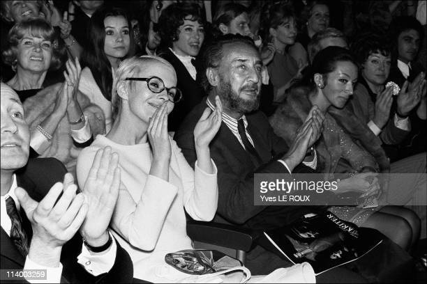 Concert of Aznavour: Romain Gary and Jean Seberg in Paris, France In January, 1968. N° n/b 6415-Author Romain Gary & Jean Seberg. N° n/b 6415