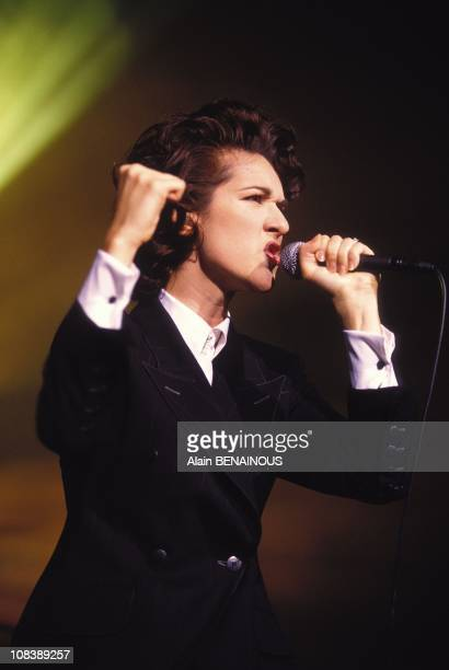 Concert of Celine Dion in Olympia in Paris France on September 27 1994