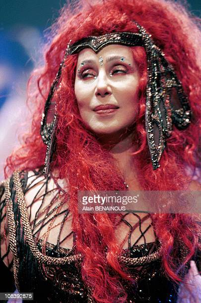 Concert Of Cher In Bercy in Paris France on November 09 1999