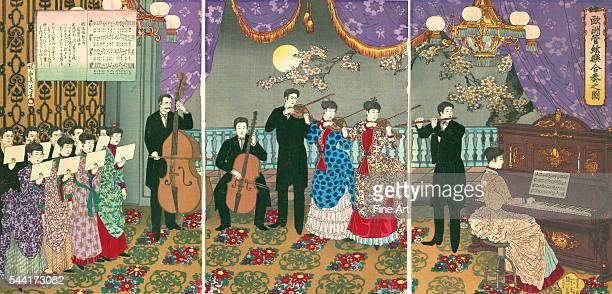 A Concert of European Music by Toyohara Chikanobu