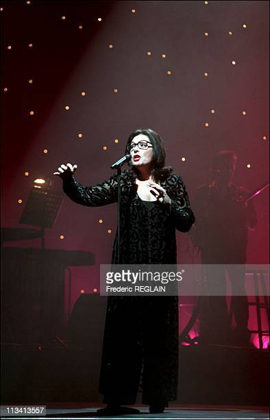 Concert Of Nana Mouskouri At The Olympia On December 11th 1997 In ParisFrance