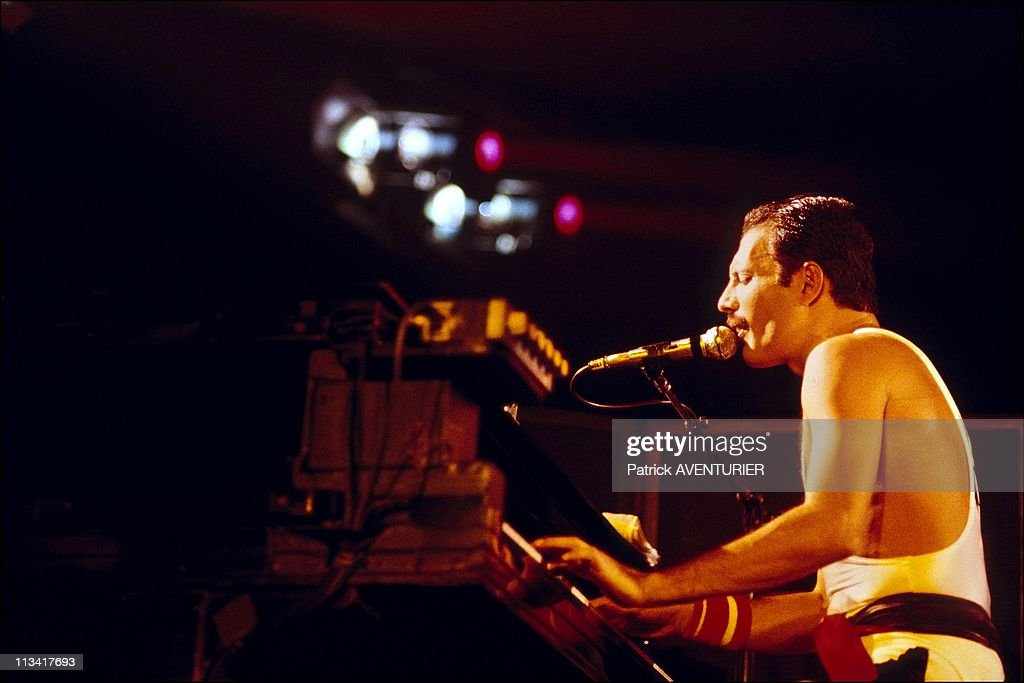 Concert Of Queen In Bercy On September 18th, 1984 In Paris,France : News Photo