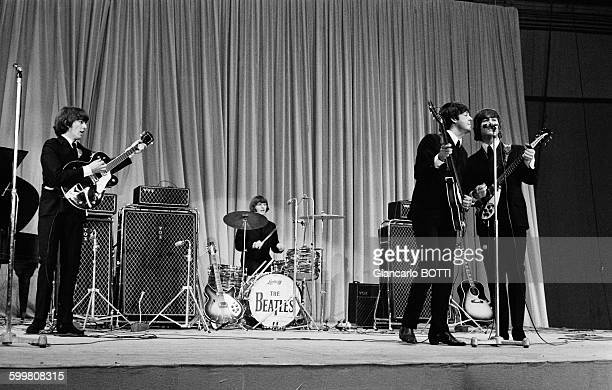 Concert Of The Beatles At The Palais Des Sports of Paris France on June 20 1965