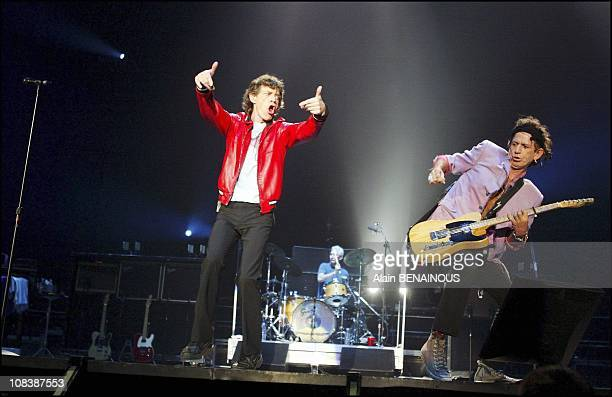 Concert of the Rolling Stones in Bercy in Paris France on July 07 2003