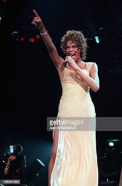 Concert Of Whitney Houston At Bercy in Paris France on July 06 1998