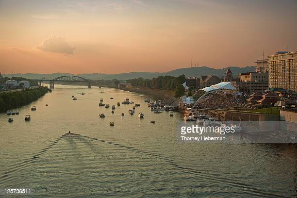 concert on the river - charleston west virginia stock photos and pictures