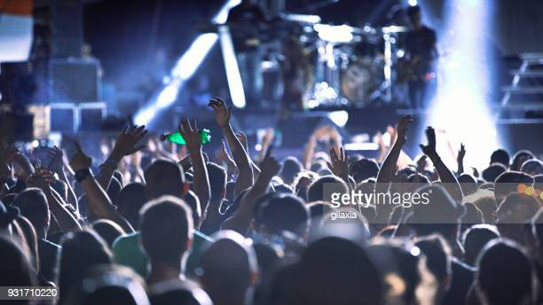concert party. - crowd stock pictures, royalty-free photos & images