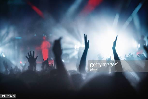 concert party. - festival goer stock pictures, royalty-free photos & images
