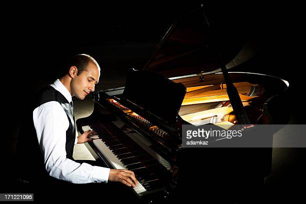 concert pianist - grand piano stock pictures, royalty-free photos & images