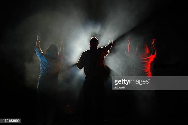 concert - rock group stock photos and pictures