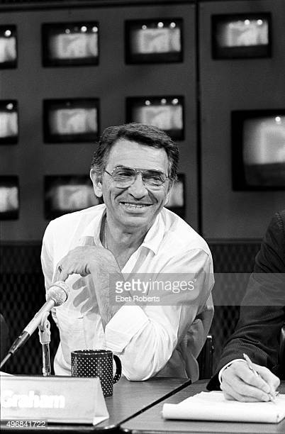 Concert promoter Bill Graham at a 'USA For Africa' press conference in New York City on May 10 1985
