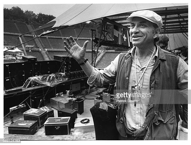 Concert promoter Bill Graham, backstage at the Waldbuhne in Berlin before the Bob Dylan concert.