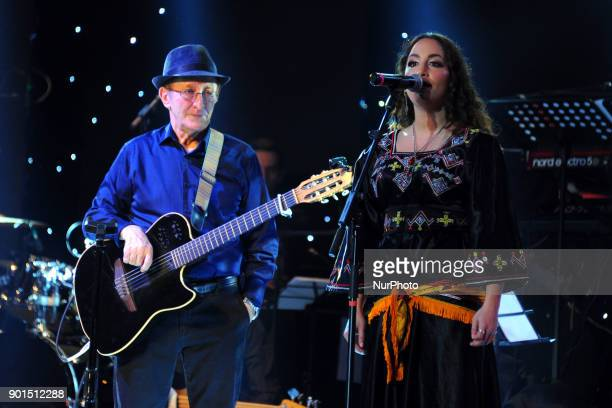 Concert singer Kabyle Idir, at the dome of Algiers on January 4, 2018 in Algeria, the Kabyle singer Idir resident in France, makes his grand return...