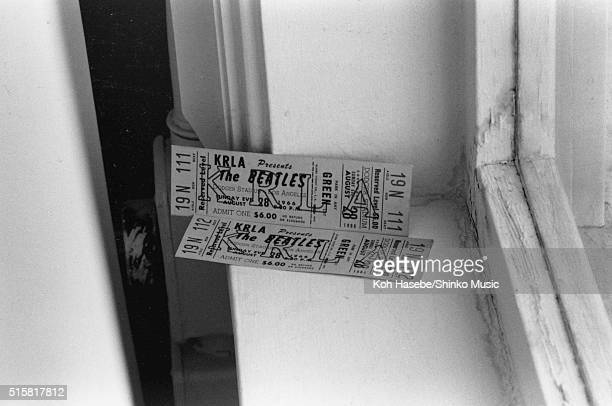 Concert tickets for The Beatles at Dodger Stadium Los Angeles California August 28 1966