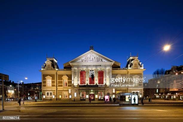 Concertgebouw music hall in Amsterdam