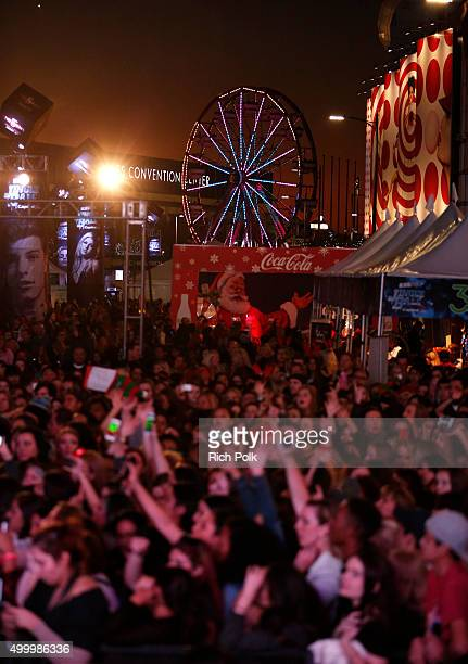 Concertgoers attend 1027 KIIS FM's Jingle Ball Village at KIIS FM's Jingle Ball 2015 Presented by Capital One preshow on December 4 2015 in Los...