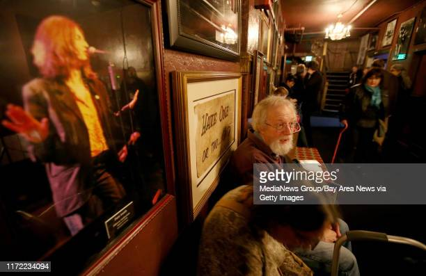 Concertgoers hang out in the lobby before Patti Smith's soldout show with her band at The Fillmore in San Francisco Calif on Wednesday Jan 21 2015...