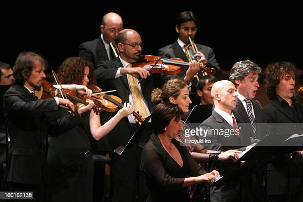Concerto Italiano at the Rose Theater as part of Mostly Mozart Festival on Monday night, August 4, 2008.This image;Members of the Concerto Italiano...