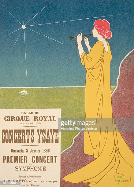 Concerts Ysaye Poster by Henri Georges Jean Isidore Meunier