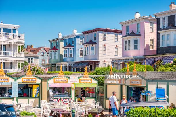 concession stand in downtown cape may new jersey usa - new jersey stock pictures, royalty-free photos & images