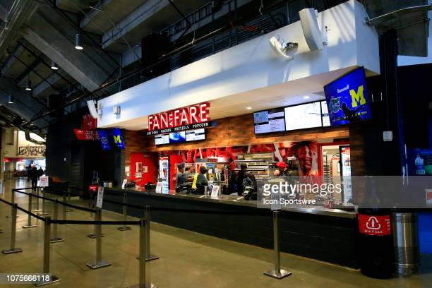 A concession stand prior to the Peach Bowl between the Florida Gators and the Michigan Wolverines on December 29 2018 at the MercedesBenz Stadium in...