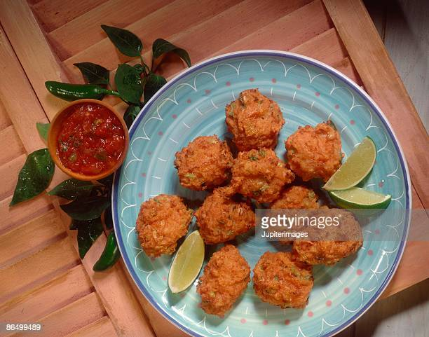conch fritters - conch shell stock pictures, royalty-free photos & images