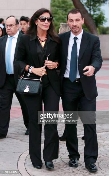 Concha Azuara attends the funeral chapel for the bullfighter Sebastian Palomo Linares on April 25 2017 in Madrid Spain