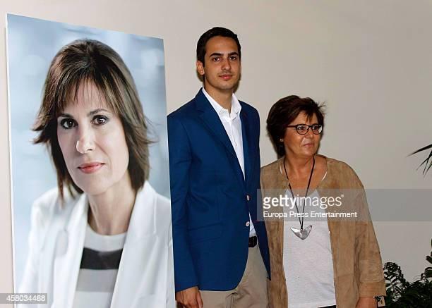 Concha Garcia Campoy's son, Lorenzo Diaz and Maria Escario attend the presentation of Concha Garcia Campoy Journalist Awards on October 28, 2014 in...
