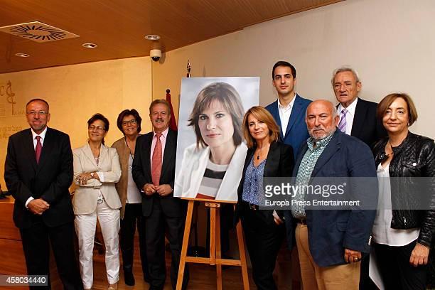 Concha Garcia Campoy's son, Lorenzo Diaz , Luis del Olmo , Maria Escario and Manuel Campo Vidal attend the presentation of Concha Garcia Campoy...