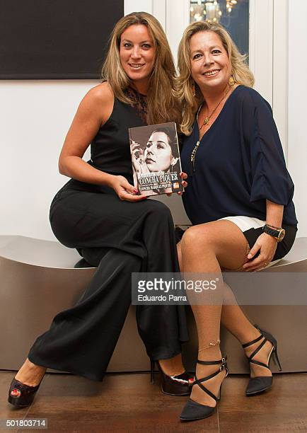 Concha Romero Marquez and Iris Oliveros attend 'Asi era mi madre' book presentation at AIE office on December 17 2015 in Madrid Spain