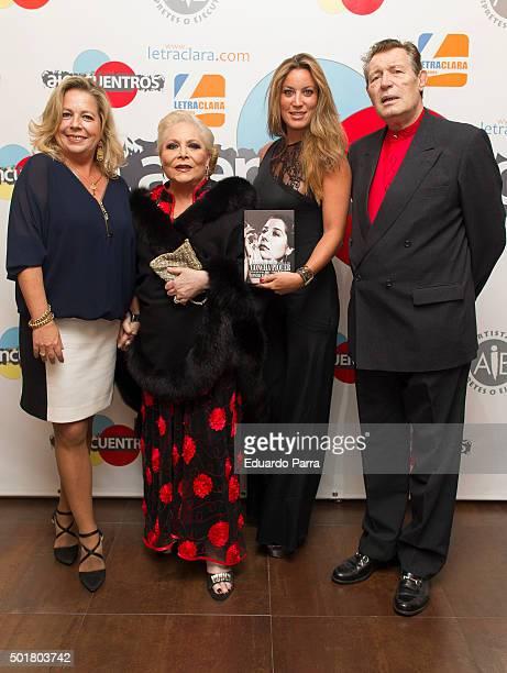 Concha Romero Marquez, Concha Marquez Piquer, Iris Oliveros and Ramiro Oliveros attend 'Asi era mi madre' book presentation at AIE office on December...