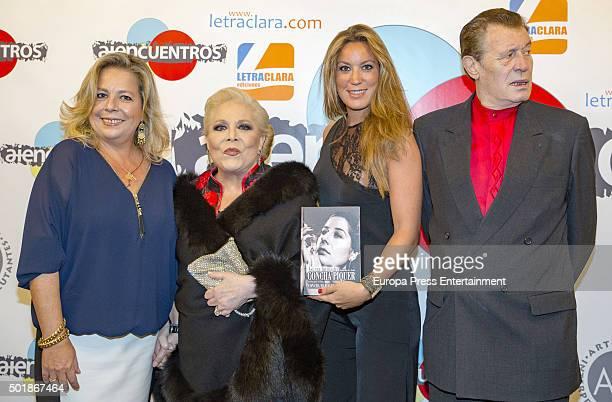 Concha Romero Marquez, Concha Marquez Piquer, Iris Oliveros and Ramiro Oliveros attend 'Asi era mi madre' book presentation on December 17, 2015 in...