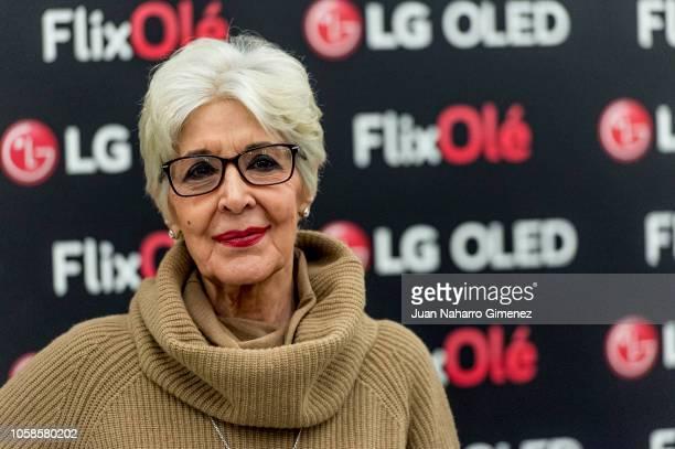 Concha Velasco attends FlixOle presentation at Real Academia de la Lengua Espanola on November 7 2018 in Madrid Spain