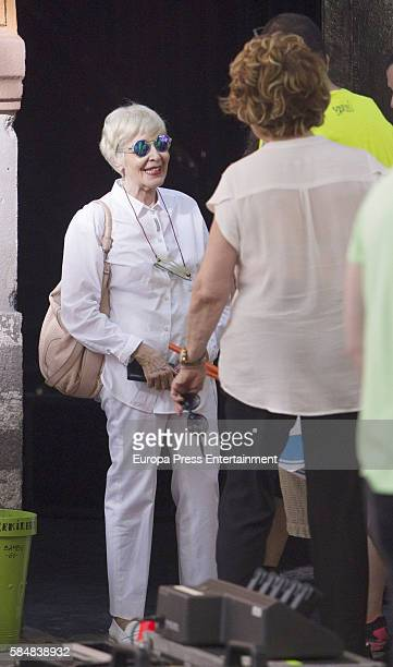 Concha Velasco is seen during the set filming of Galerias Velvet on July 12 2016 in Madrid Spain