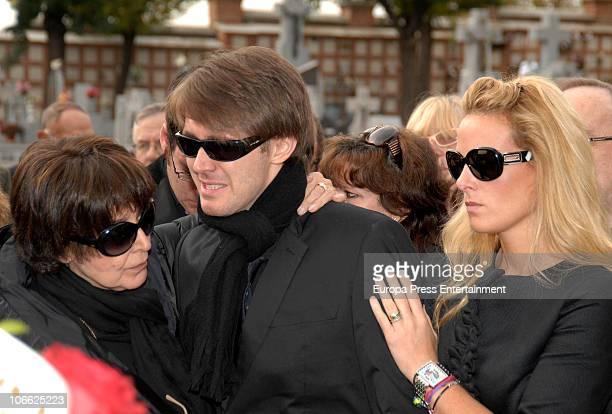Concha Velasco Manuel Marso and Rocio Tocho attend the funeral for theater producer Paco Marso at la Almudena cementery on November 7 2010 in Madrid...