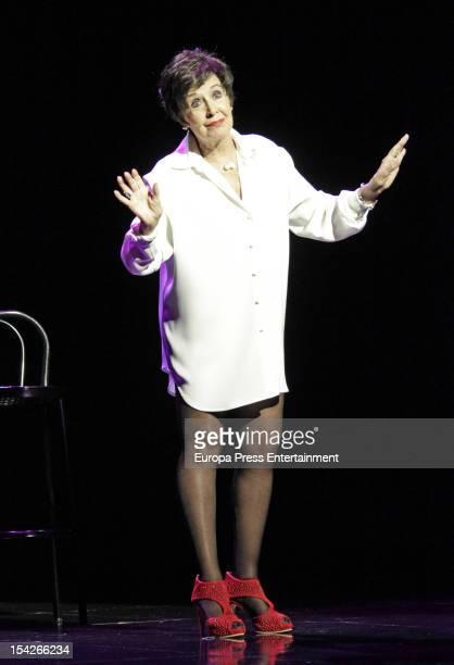 Concha Velasco performs during 'Yo lo que quiero es bailar' at La Latina Theatre on October 16 2012 in Madrid Spain
