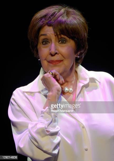 Concha Velasco presents her latest theater work 'Concha Yo Lo Que Quiero Es Bailar' at the Theater Goya on October 14 2011 in Barcelona Spain