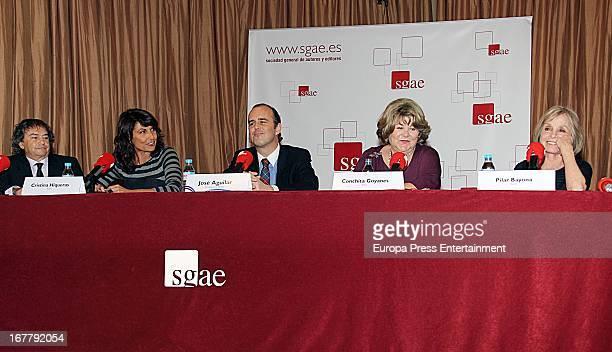 Conchita Goyanes Joselito and Cristina Higueras attend the presentation of 'Los Ninos Prodigio Del Cine Espanol' book by Jose Aguilar on April 29...