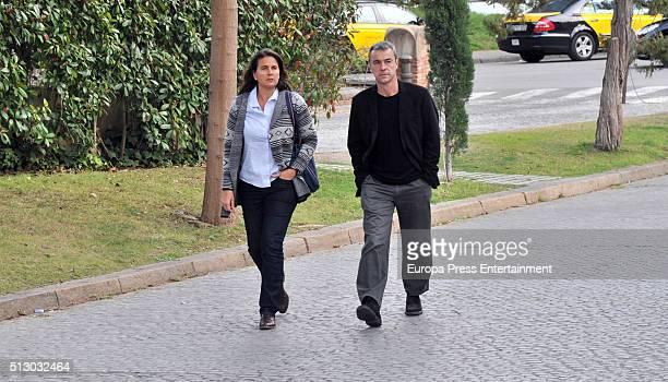 Conchita Martinez attends the morgue for Arantxa Sanchez Vicario's father Emilio Sanchez Benito on February 26 2016 in Barcelona Spain