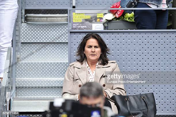 Conchita Martinez attends the tennis match during 8th day of the Mutua Madrid Open tennis tournament at La Caja Magica on May 7, 2016 in Madrid,...