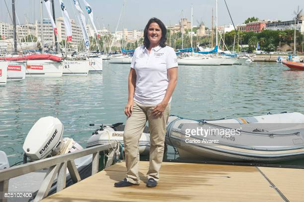 Conchita Martinez is seen during the 36th Copa Del Rey Mafre Sailing Cup on August 1 2017 in Palma de Mallorca Spain